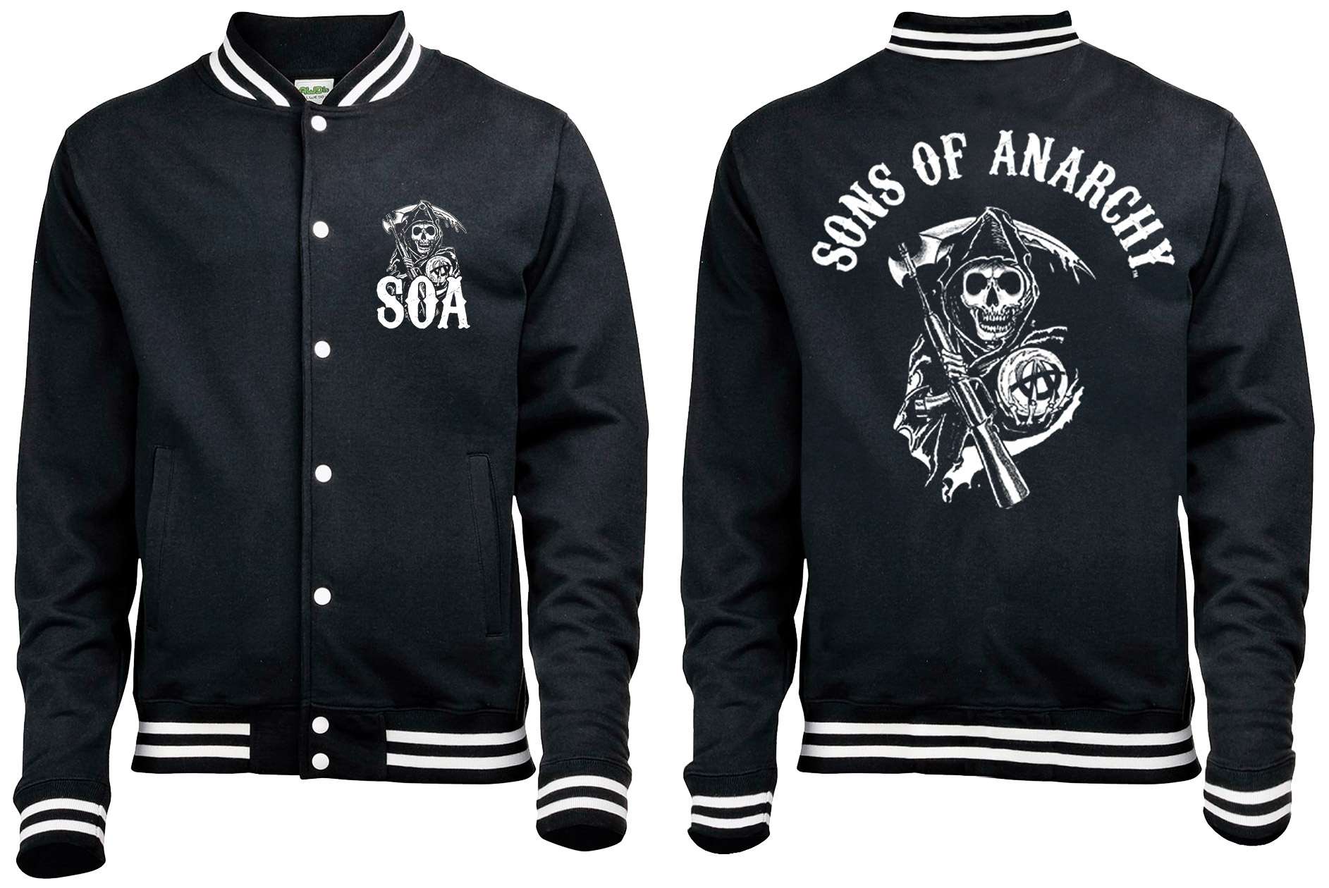 Sons of Anarchy Baseball Varsity Jacket Classic Size M