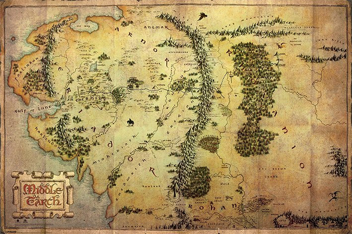 The Hobbit An Unexpected Journey Poster Pack Journey Map 61 x 91 cm (5)