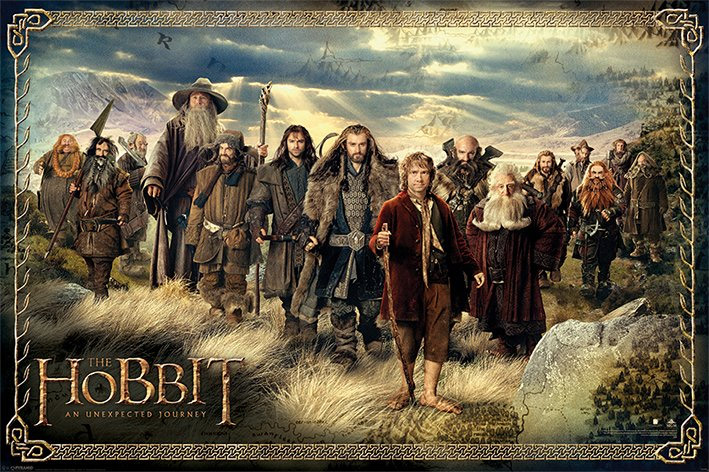 The Hobbit An Unexpected Journey Poster Pack The Company 61 x 91 cm (5)