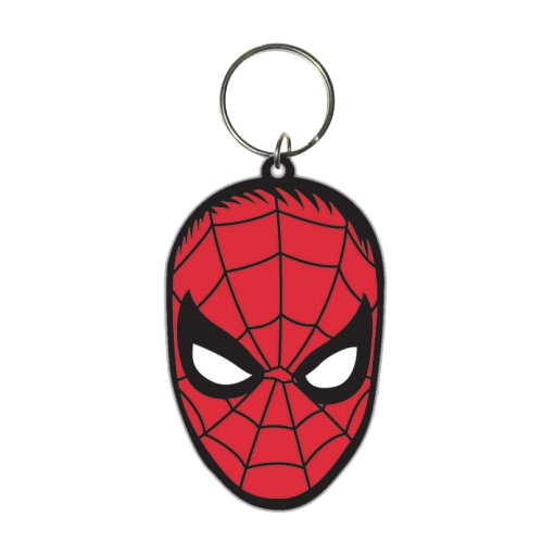 Spider-Man Rubber Keychain Face 6 cm