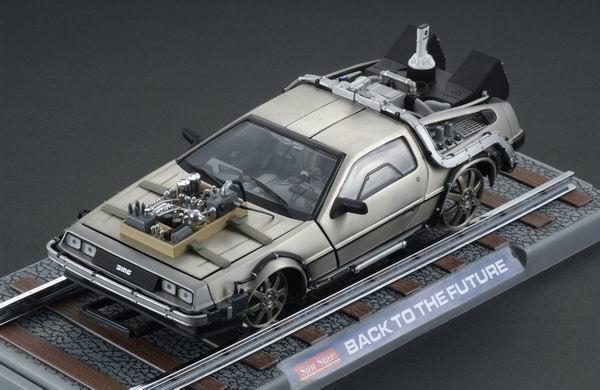 Back to the Future III Diecast Model 1/18 ´81 DeLorean Railroad Version