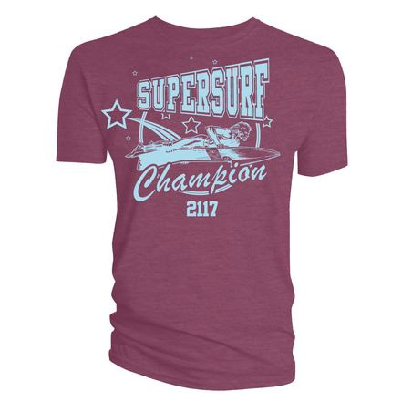 2000 AD T-Shirt Supersurf Champion 2117 Burgundy Size L