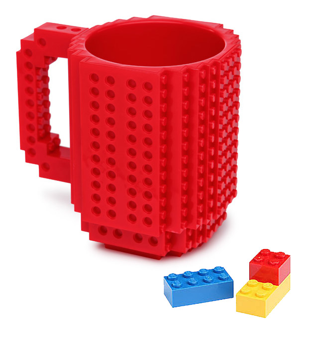 Build On Brick Mug Red
