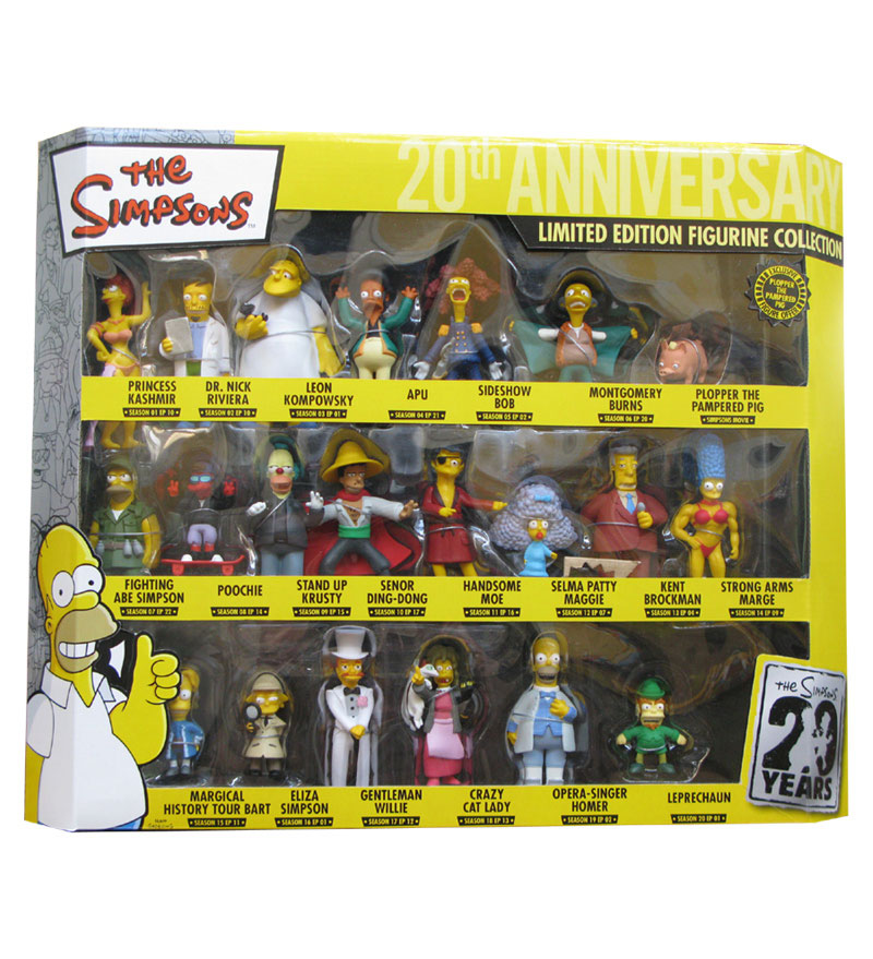 Simpsons 20th Anniversary PVC Figures Collector´s Box Set (21)