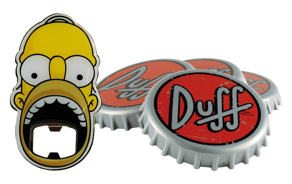 Simpsons Coaster Set with Bottle Opener