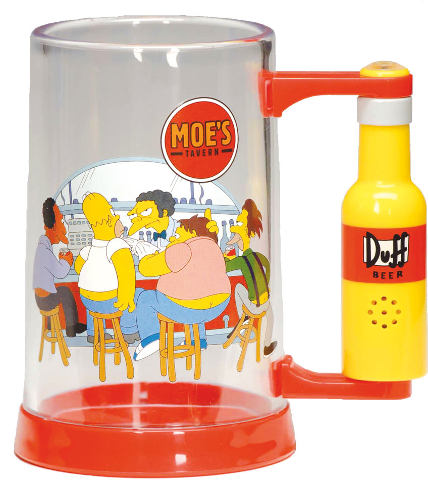Simpsons Glass with Sound Moe´s Tavern