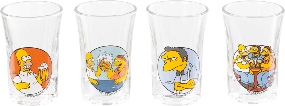 Simpsons Shotglass 4-Pack To Alcohol!