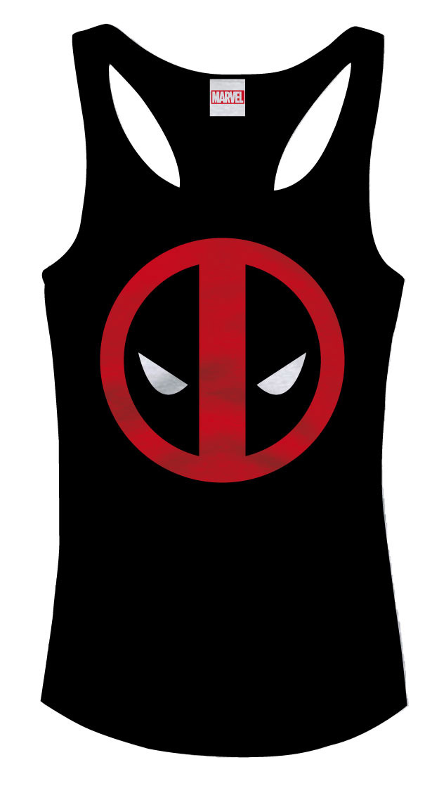 Marvel Comics Girlie Tank Top Deadpool Logo Size M
